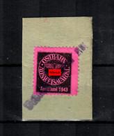 GG: Ausweismarke Der Ostbahn April/Juni 1943 - Bezetting 1938-45