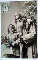 CPA Père Noël Santa Claus - Petite Fille Et Sa Poupée - 1905 - Envoi De Grèce - TB - Santa Claus