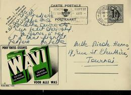 Publibel Obl. N° 1126 B ( Pour Toutes Léssives: WAVI ) Obl. BXL 1953 - Publibels