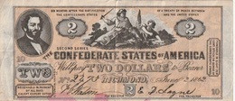 Billet - Confédérate States Of America 2 Dollars  1862 - Devise De La Confédération (1861-1864)