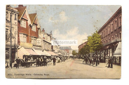 Tunbridge Wells - Calverley Road And Shops - 1906 Used Postcard - Altri