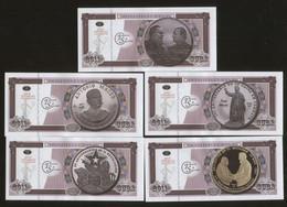 Cuban Historic Figures 2011 Cuban Revolutionary Figures On Coins.5 Pcs. UNC - Cuba