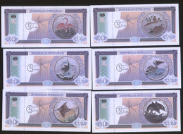 Cuba Caribbean Fauna I 2012 Set Of 6 Featuring Fishes And Birds On Coins. UNC - Cuba