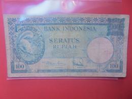 INDONESIE 100 RUPIAH 1957 Circuler (B.24) - Indonesien
