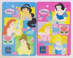 Singapore Old  Subway Train Bus Ticket Card Transitlink Disney Princess (2 Cards) - Mondo