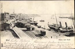 CPA Hansestadt Kiel, Hafen, Dampfer - Altri
