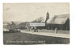 Little Common, Bexhill - St Mark's Church, Road, Houses - 1905 Used Postcard - Altri