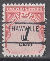 USA Precancel Vorausentwertungen Preos, Locals Illinois, Thawville 841 - Precancels