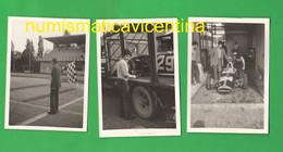 Autodromo Monza Circuito Gare Auto Cars Racing Voitures Automobiles Box  3 Photo 60's Wagen - Automobili