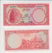 Cambodia 5 Riel 1962-75 Pick 10c UNC - Cambodia
