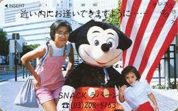"""Japan - Japanese Phonecard.  Télécarte Du Japon.   """"Thème Disney"""".  (OCCASION - USED). - Disney"""