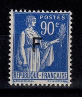 Franchise - YV 10 N** Paix Cote 3,40 Euros - Franchise Stamps