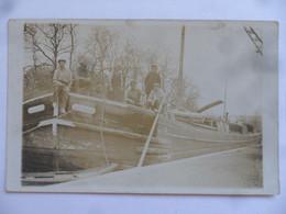 """(Batellerie à Localiser....??) - Carte Photo D'une Péniche """" ALEXANDRE """" (certainement Dans La Somme !!)...voir Scans - Chiatte, Barconi"""