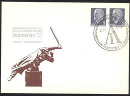 Ganzsache DDR PP 11 / 33 Sonderstempel Interartes72 Berlin 1972 (25.10.72) - Privatpostkarten - Gebraucht