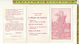 KL 1798 - LITANIE TER ERE VAN DE H. NIKOLAAS VAN TOLENTIJN - TIELT - Devotion Images