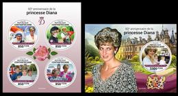 Central Africa 2021 Princess Diana.  (330) OFFICIAL ISSUE - Königshäuser, Adel