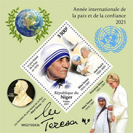 Niger 2021 International Year Of Peaceand Trust. Princes Diana. (243b) OFFICIAL ISSUE - Königshäuser, Adel