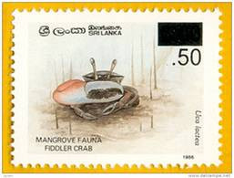 Sri Lanka Stamps 2005, SURCHAGE, Fiddler Crab, MNH - Sri Lanka (Ceylon) (1948-...)