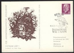Ganzsache DDR PP 10 Sonderstempel Solidatität Mit Vietnam (16.12.73) - Privatpostkarten - Gebraucht