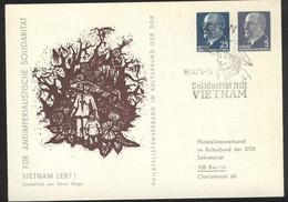 Ganzsache DDR PP 13 Sonderstempel Solidatität Mit Vietnam (16.12.73) - Privatpostkarten - Gebraucht