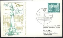 Ganzsache DDR PP 16 Sonderstempel 3. Luftpostsalon Der DDR  (25.10.75) - Privatpostkarten - Gebraucht