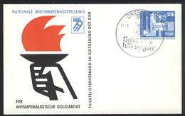 Ganzsache DDR PP 17 Sonderstempel Solidarität Hilft Siegen!  (11.8.79) - Privatpostkarten - Gebraucht