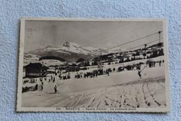 Cpa 1937, Megève, Sports D'hiver, Le Remonte Pente, Haute Savoie 74 - Megève