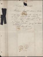 échantillons Tissus Péruvien C Bourelle & Cie Reims YT 60 Cérès GC 3103 CAD Reims 4 SEP 1872 Pour Castres - 1849-1876: Periodo Clásico