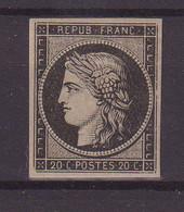 FRANCE :  N° 3 * . TB . SIGNE BRUN . 1849 .  ( CATALOGUE YVERT ) . - 1849-1850 Cérès