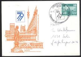Ganzsache DDR PP 16  Sonderstempel Nationale Briefmarkenausstellung Dresden 79 (11.8.79) - Privatpostkarten - Gebraucht
