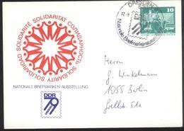 Ganzsache DDR PP 16  Sonderstempel Nationale Briefmarkenausstellung Dresden 79 (12.8.79) - Privatpostkarten - Gebraucht