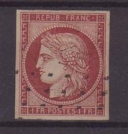 FRANCE :  N° 6 . OBL . GROS POINTS . TB . SIGNE BRUN ET SCHELLER . 1849 .  ( CATALOGUE YVERT ) . - 1849-1850 Cérès