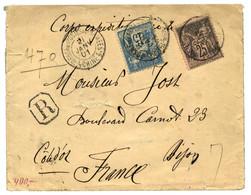 1901 Type SAGE De FRANCE 15c + 25c Obl. TRESOR ET POSTES AUX ARMEES CHINE 5 Sur Env (pd) RECOMMANDEE Pour La FRANCE. Rar - Non Classificati