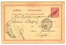 "GUERRE DES BOXERS : 1900 CHINE ALLEMANDE Entier Postal 10pf Obl. TRESOR ET POSTES AUX ARMEES 1 CHINE 1 + ""CORPS EXPEDITI - Non Classificati"