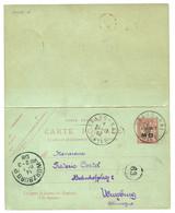 1908 Entier 4 CENTS S/ 10c MOUCHON (+ Réponse Neuve) Obl. SHANG-HAI CHINE Pour L' ALLEMAGNE. Superbe. - Non Classificati