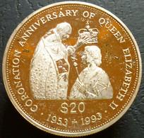 Tuvalu - 20 Dollars 1993 - 40th Anniversary Of Coronation - KM# 16 - Tuvalu