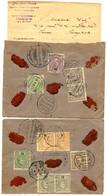 PORTUGAL To THAILAND : 1906/08 Lot 2 REGISTERED Envelope From FIGUEIRA DA FOZ (PORTUGAL) To BANGKOK (SIAM). RARE. Vf. - Siam