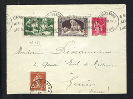 FRANCE 1940: LSC D'Aix-les-Bains Pour Genève Affr. De 2,55F - Briefe U. Dokumente