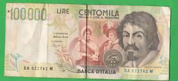 Italia 100000 Lire Caravaggio II° Tipo Fazio Speziali Anno 1994 - 100000 Lire