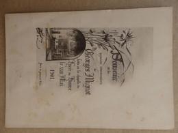 Souvenir De La Première Communion De Georges Mignot Chapelle Du Havre (76) Le 23 Mai 1901. - Communion