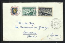 FRANCE 1953: LSC De Paris Pour La Suisse Affr. à 30F - Briefe U. Dokumente