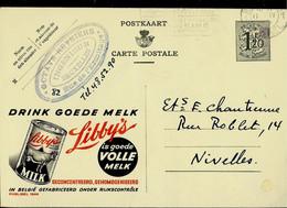 Publibel Obl. N° 1244 ( Drink Goede Melk - LIBBY'S ) Obl. 1954 - Publibels