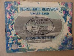 Dépliant Publicitaire Régina Hôtel Bernascon Aix Les Bains (73). - Publicités