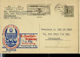 Publibel Obl. N° 1392 ( Jambons D'Ardenne Charlier - Depasse à Beauraing ) Obl. BXL 1956 - Publibels