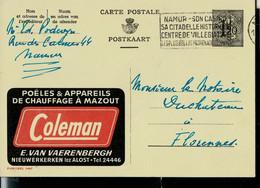 Publibel Obl. N° 1467 ( Poêles Et Appareils De Chauffage à Mazout - Fuel - COLEMAN) Obl. Namur 1957 - Publibels