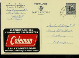 Publibel Obl. N° 1550 ( Poêles Et Appareils De Chauffage à Mazout - Fuel - COLEMAN) Obl. OUDENBURG 1959 - Publibels