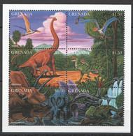NW602 GRENADA FAUNA REPTILES DINOSAURS PREHISTORIC ANIMALS 1KB MNH - Prehistorisch