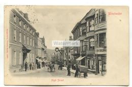 Winchester High Street - 1902 Used Postcard, East Liss Duplex A90 Postmark - Winchester