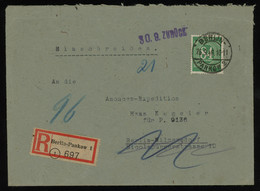 TREASURE HUNT [01197] Allied Occupation 1946 Reg. Cover Sent Within Berlin, Returned, Bearing 84 Pf Green - Zona AAS