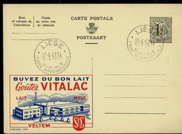 Publibel Obl. N° 1479 ( Buvez Du Bon Lait - Melk - VITALAC - Veltem ) Obl; LIEGE 27/04/57 - Publibels